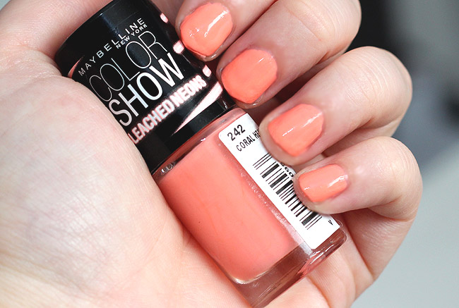 maybelline bleached neons coral heat