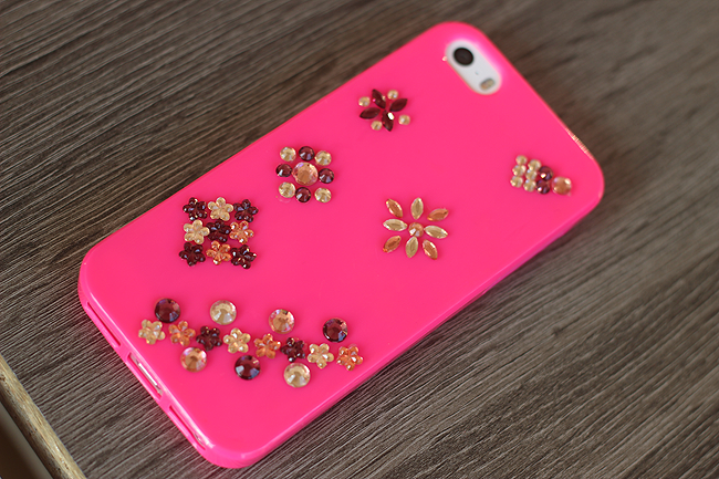 diy roze telefoonhoesje