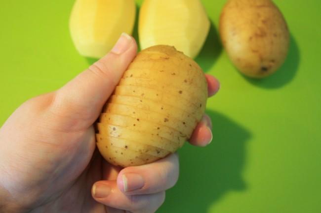 lekkere recepten hasselback aardappels