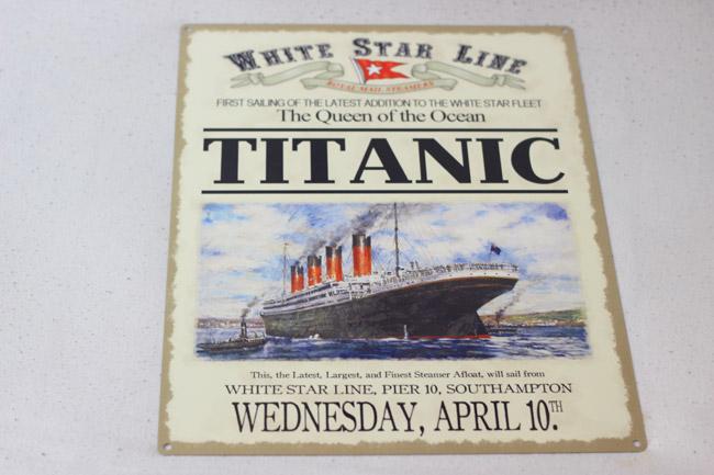 vintage bordjes titanic
