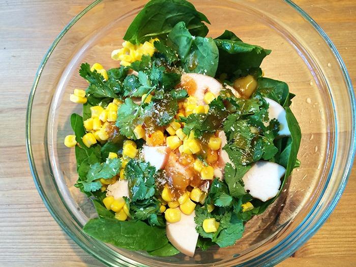 Spinazie recept Kip Spinazie Salade