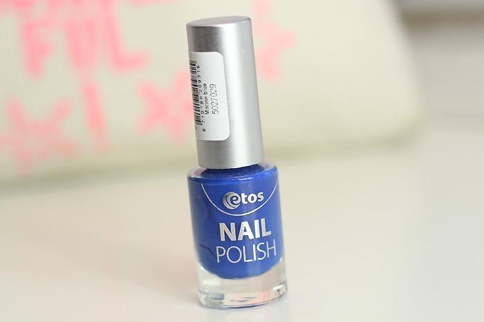 blauwe nagellak etos marine blue