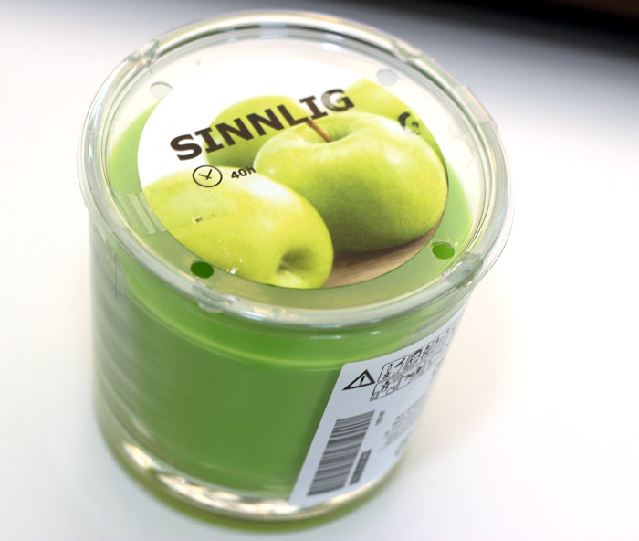 ikea lugga groene appel