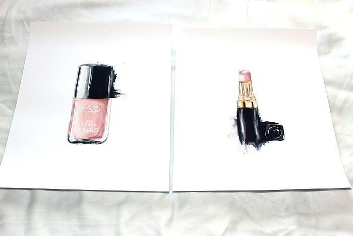 desenio nail polish lipstick poster