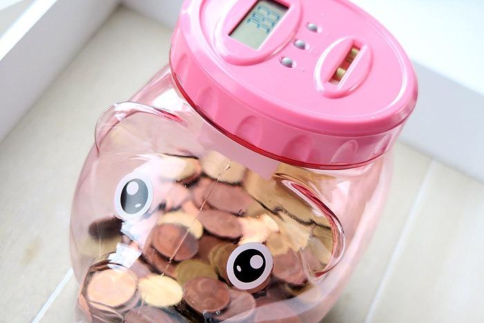spaarvarken die zelf geld telt