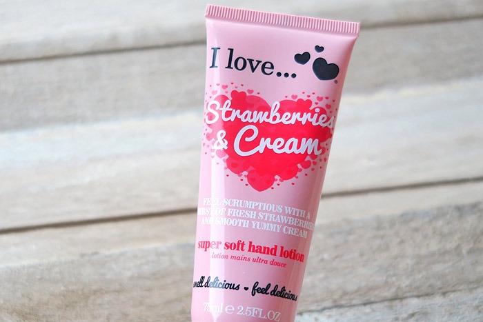 i love strawberries & cream hand lotion