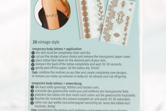 Nail Art | Essence Body Jewels Metallic tattoos