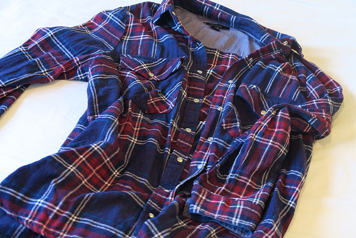 primark shoplog blauw geruite blouse