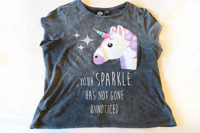 primark shoplog eenhoorn shirt