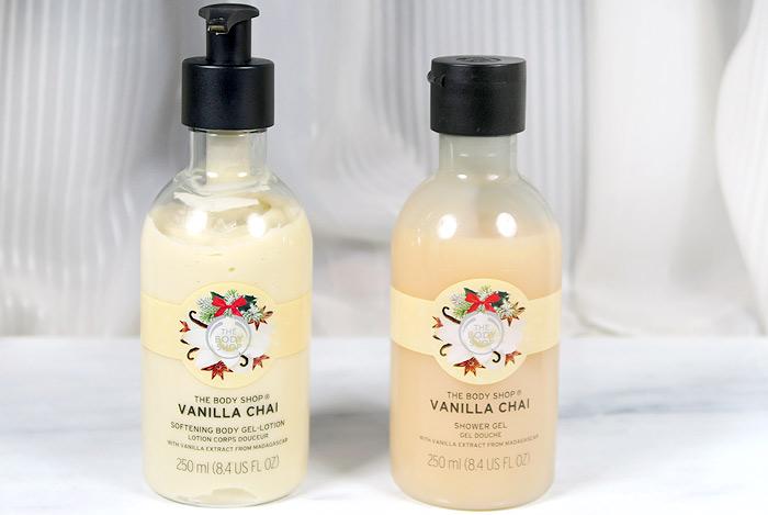 the body shop vanilla chai body lotion & shower gel