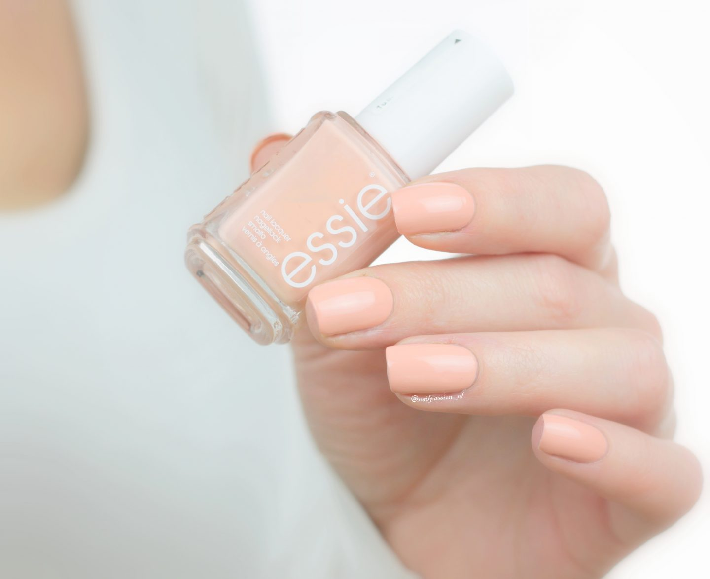Geometric Peachy Nail Art