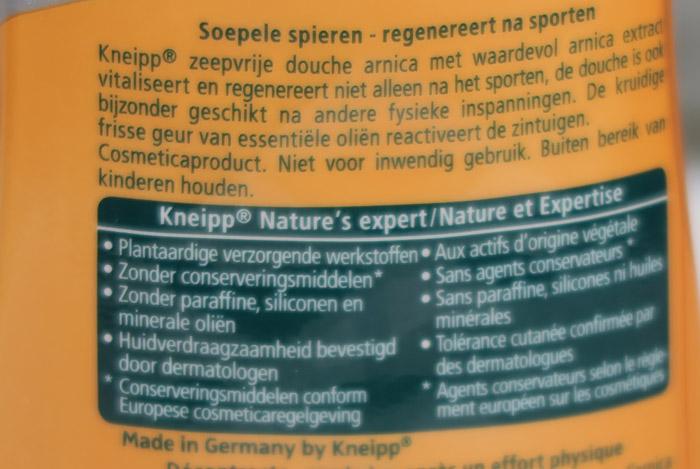 kneipp arnica soepele spieren ingredienten