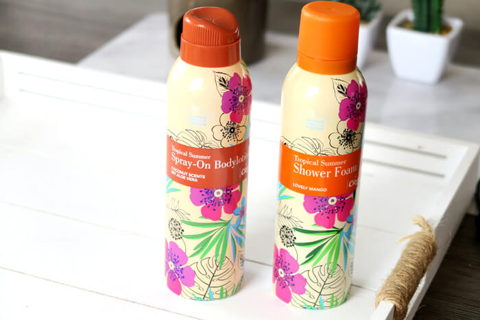 cien tropical summer shower foam spray on bodylotion