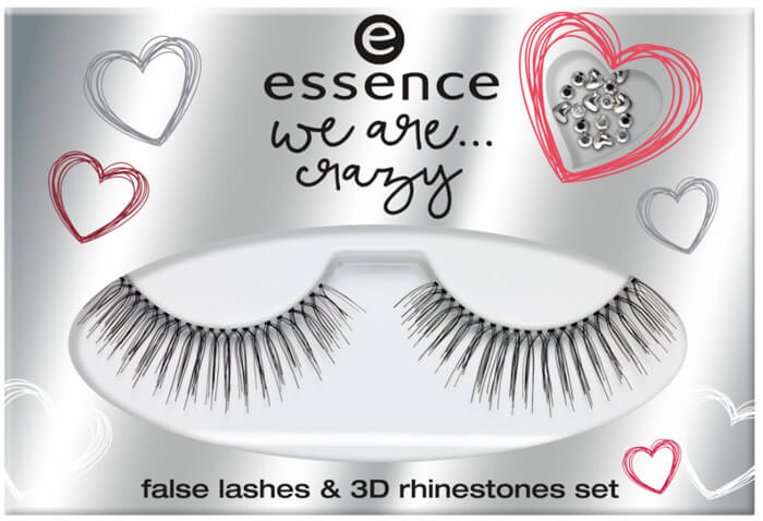 essence we are crazy false lashes rhinestones