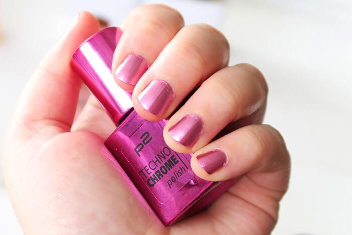 p2 techno chrome polish pink spark