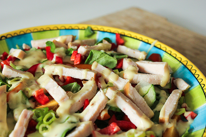 salade gerookte kip