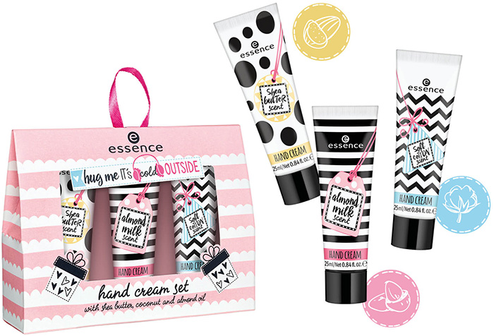 essence hug me it's cold outside hand cream set