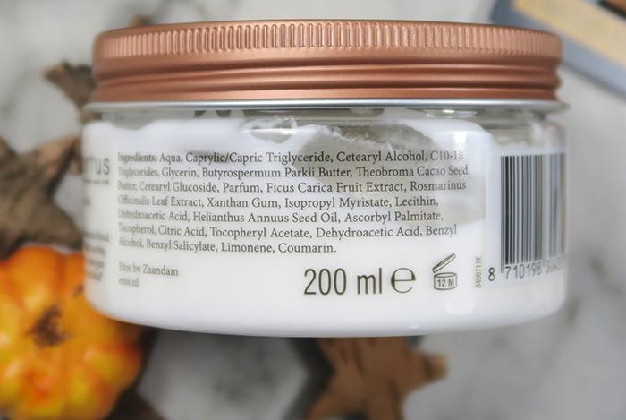 etos botanical boost rosemary & fig body cream ingredienten