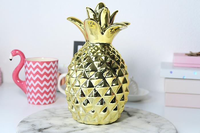 gouden ananas spaarpot radbag
