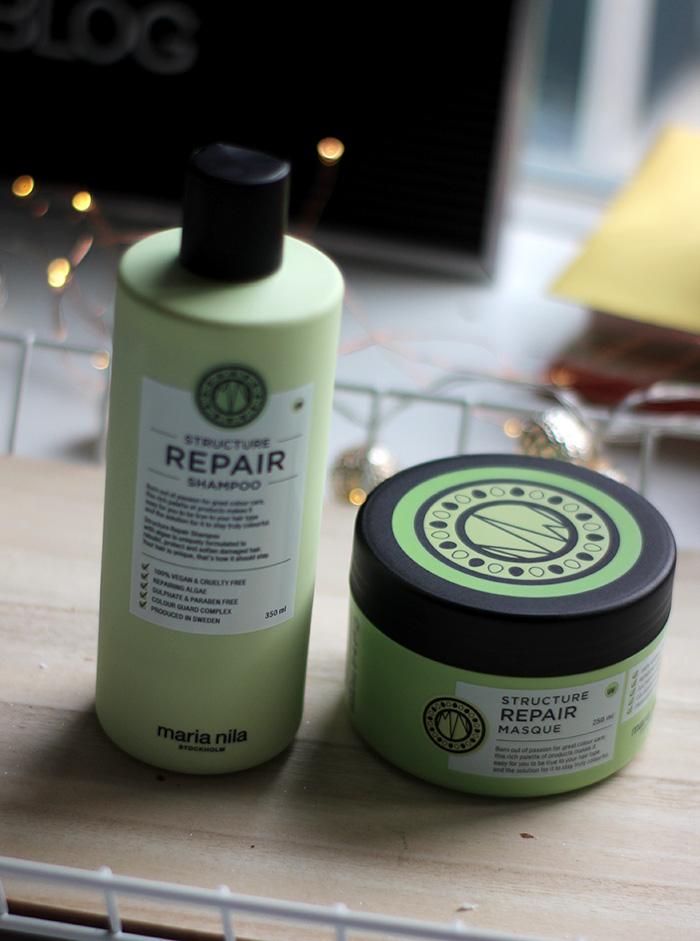 maria nila repair haarmasker en shampoo