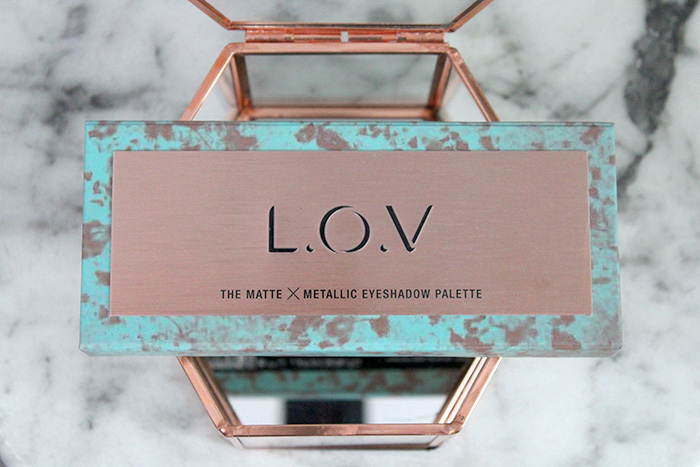 l.o.v the matte x metallic eyeshadow palette