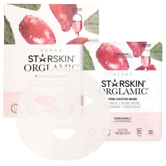 starskin orglamic pink cactus glass masker