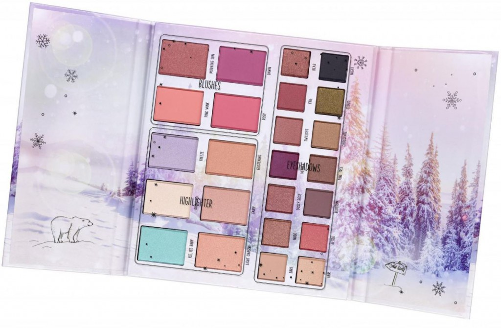 essence into the snow glow eye & face palette