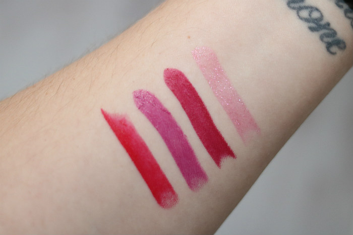 mac shiny pretty things party favours bright swatches