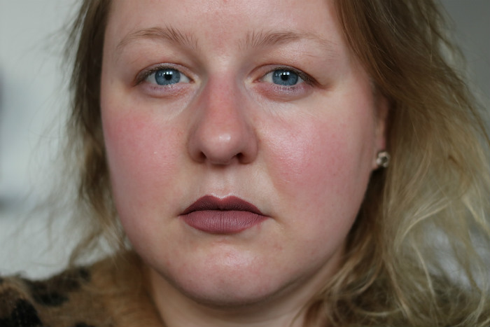 karl lagerfeld liquid lipstick modern muse swatch