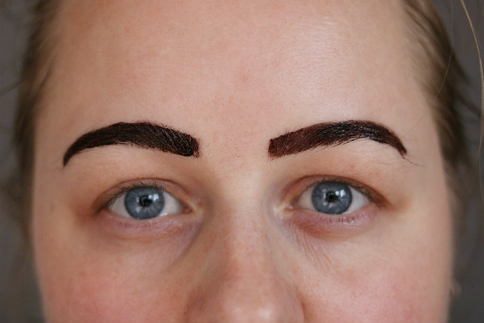 makeup revolution brow tint taupe op