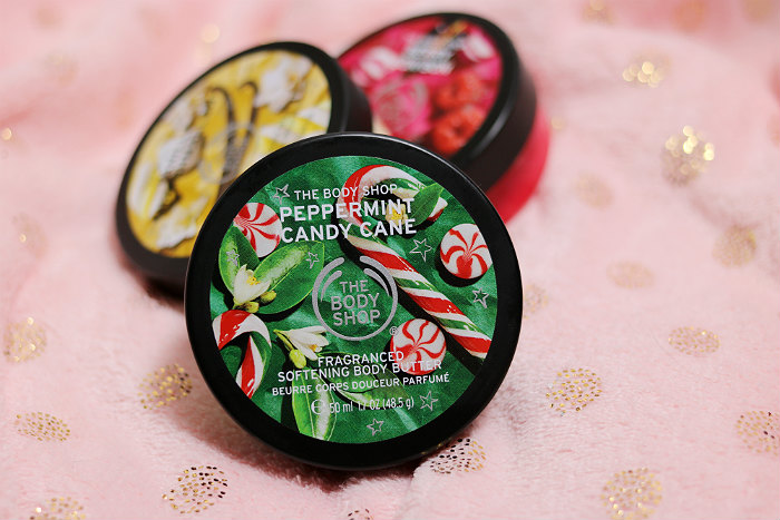 the body shop body butter trio peppermint candy cane