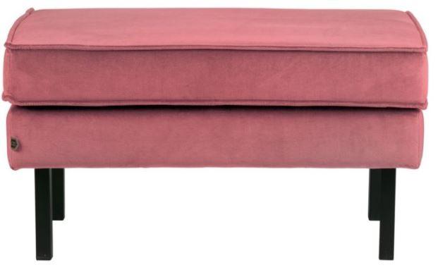 velvet pink hocker