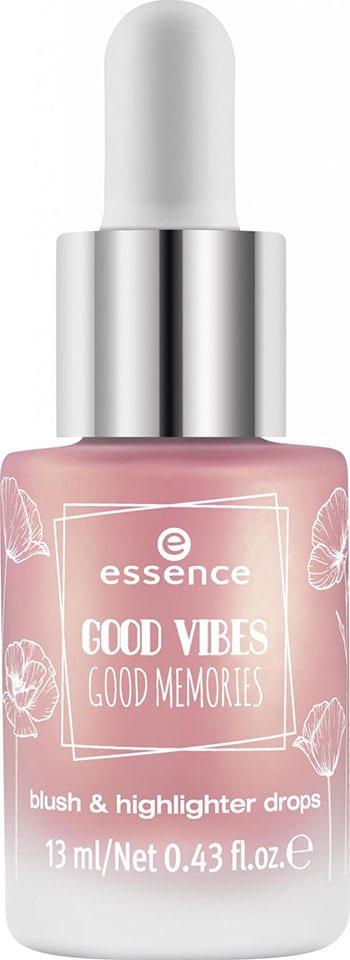 essence good vibes good memories blush highlighter drops