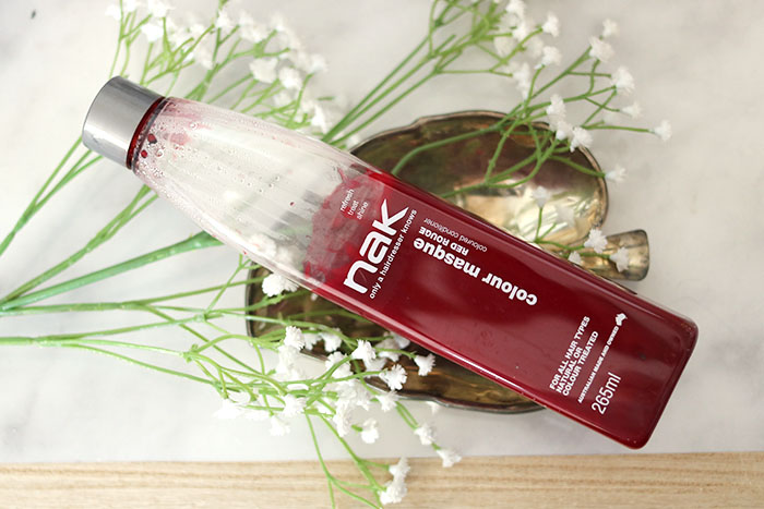 NAK colour masque Red Rouge coloured conditioner review & foto's