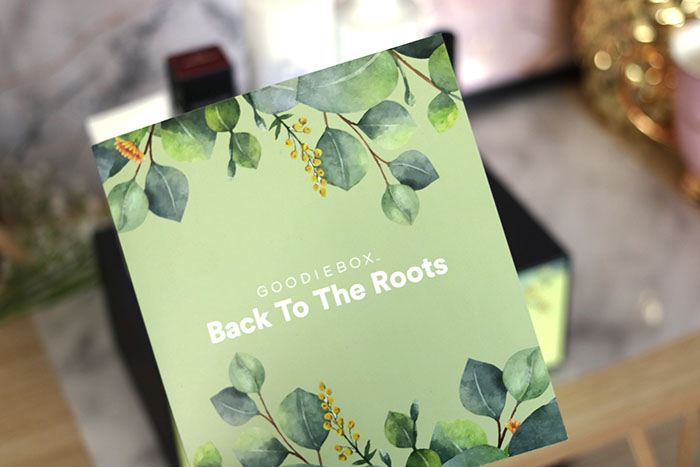 goodiebox maart 2019 back to the roots kaart