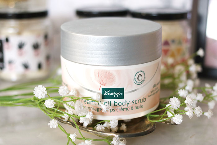 kneipp cream & oil body scrub