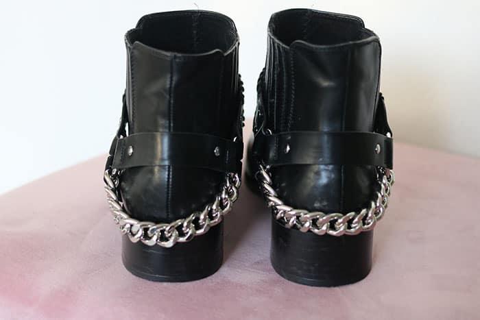 pull&bear zwarte laarzen met ketting