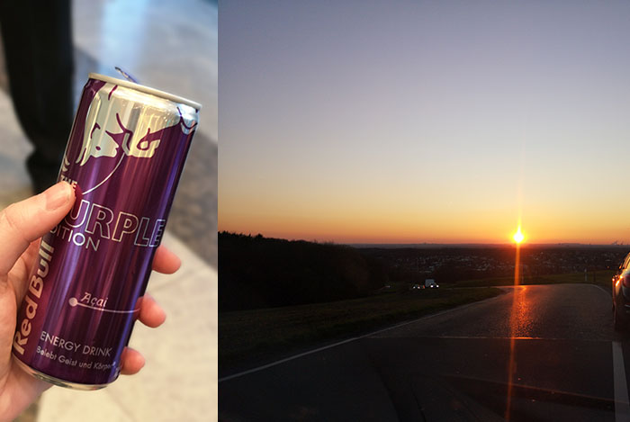 week in foto's 9 lohmar sunset paarse red bull