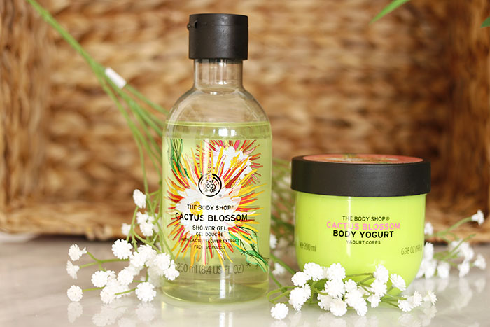 the body shop cactus blossom shower gel body yoghurt