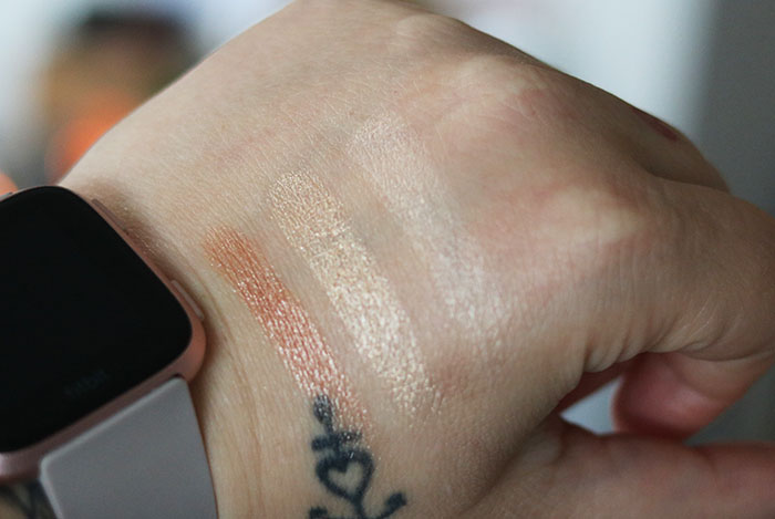 catrice luminice highlight & bronze glow palette swatches