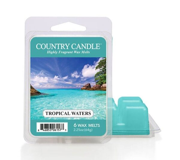 country candle tropical waters waxmelt